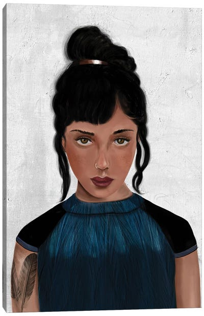 Rebel Girl VI Canvas Art Print