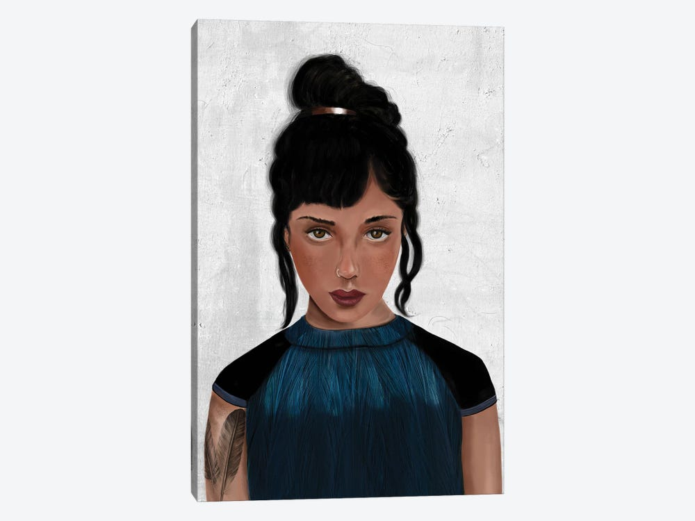 Rebel Girl VI by Henrique Nobrega 1-piece Canvas Print