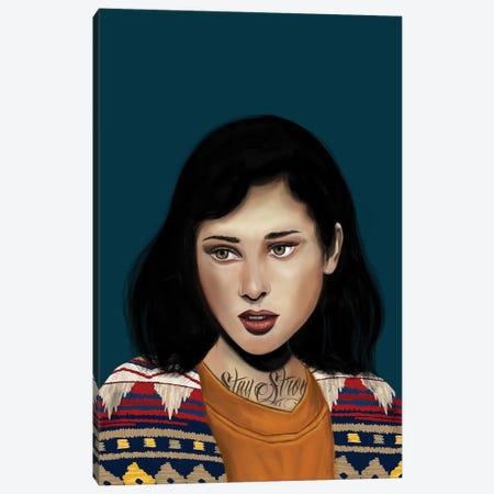 Rebel Girl V Canvas Print #HNO12} by Henrique Nobrega Canvas Print