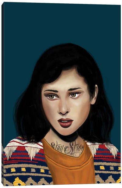 Rebel Girl V Canvas Art Print