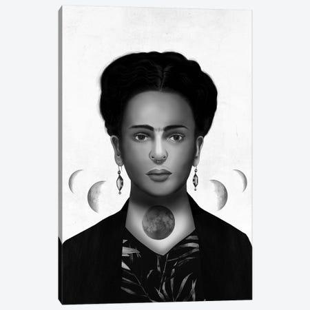 Frida Kahlo Eclipse Canvas Print #HNO15} by Henrique Nobrega Canvas Art