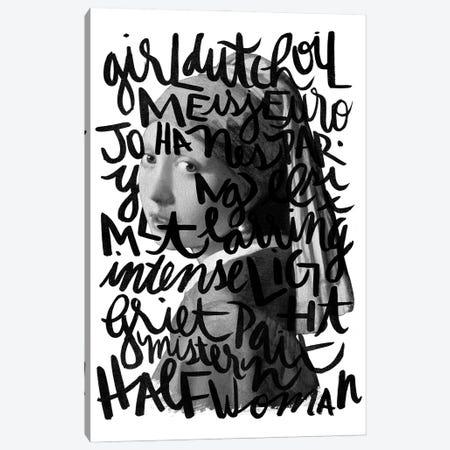 Girl Pearl Canvas Print #HNO17} by Henrique Nobrega Canvas Wall Art
