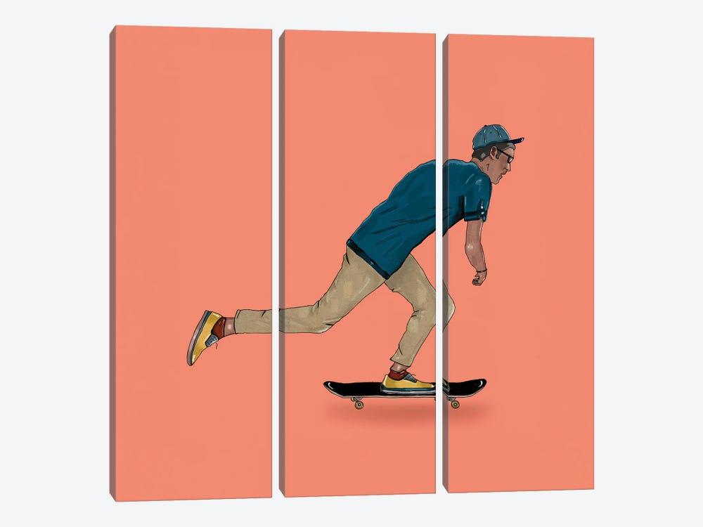 Skate Goods I by Henrique Nobrega 3-piece Canvas Artwork