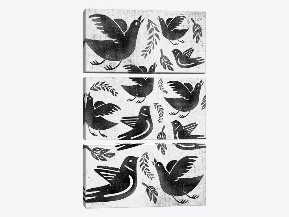 Fly And Fight by Henrique Nobrega 3-piece Canvas Artwork