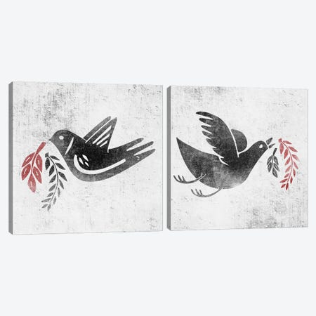 Fly And Fight Diptych Canvas Print Set #HNO2HSET001} by Henrique Nobrega Canvas Art