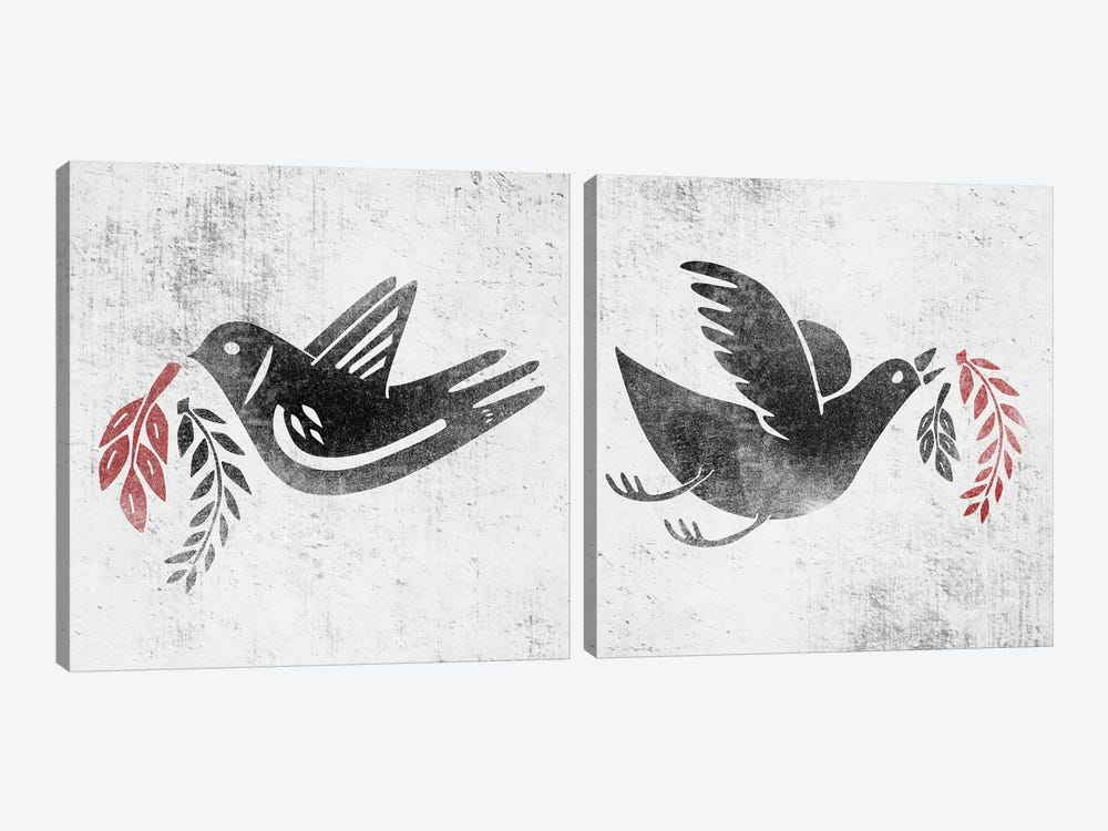 Fly And Fight Diptych by Henrique Nobrega 2-piece Canvas Print