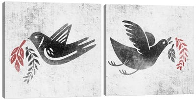 Fly And Fight Diptych Canvas Art Print