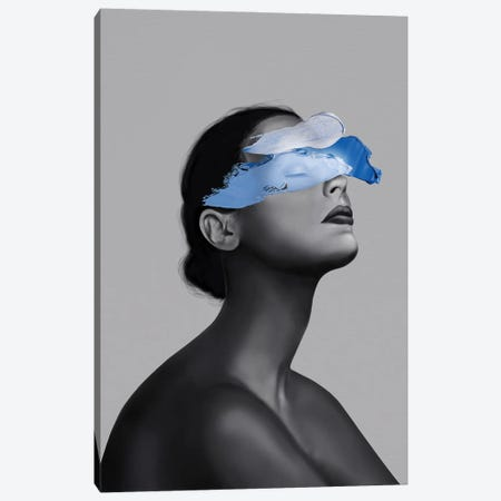 Blue Girl Canvas Print #HNO30} by Henrique Nobrega Canvas Art Print