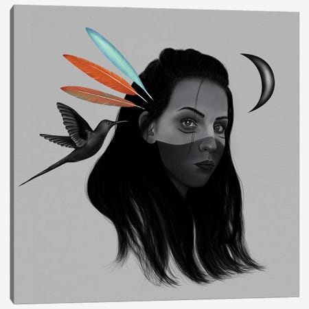 Mystic Girl Canvas Print #HNO32} by Henrique Nobrega Canvas Print