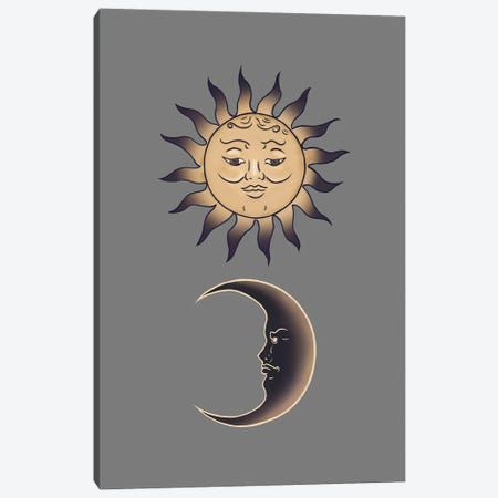 Sun By The Moon Canvas Print #HNO42} by Henrique Nobrega Canvas Art