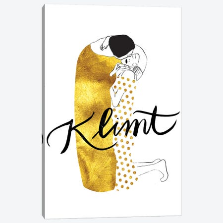 Klimt Golden Canvas Print #HNO4} by Henrique Nobrega Canvas Wall Art