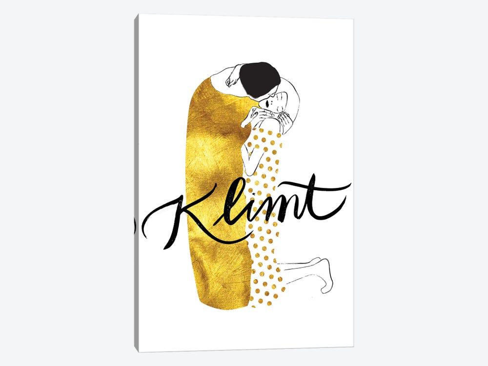 Klimt Golden by Henrique Nobrega 1-piece Canvas Art