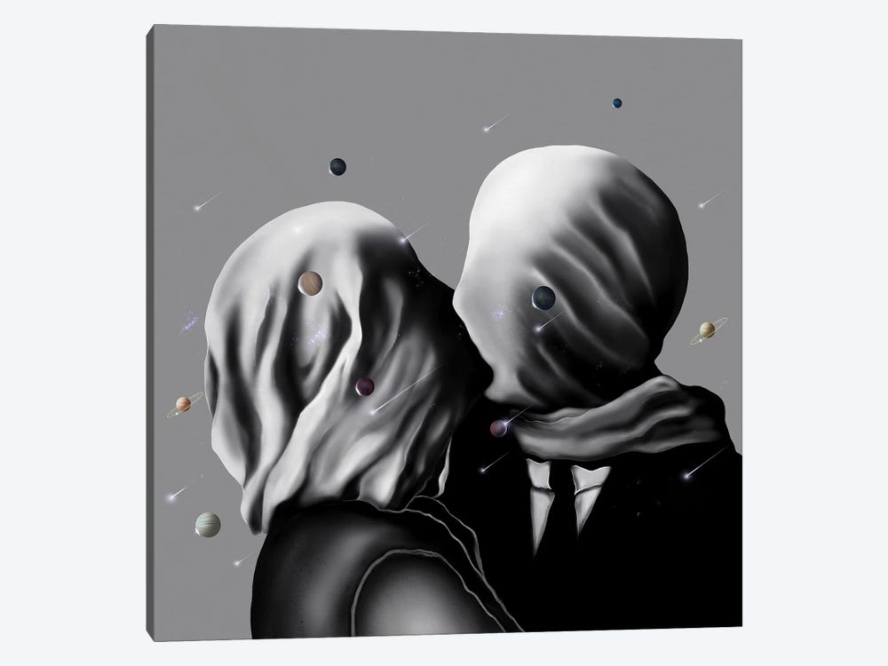 Two Saturn's One Space by Henrique Nobrega 1-piece Art Print