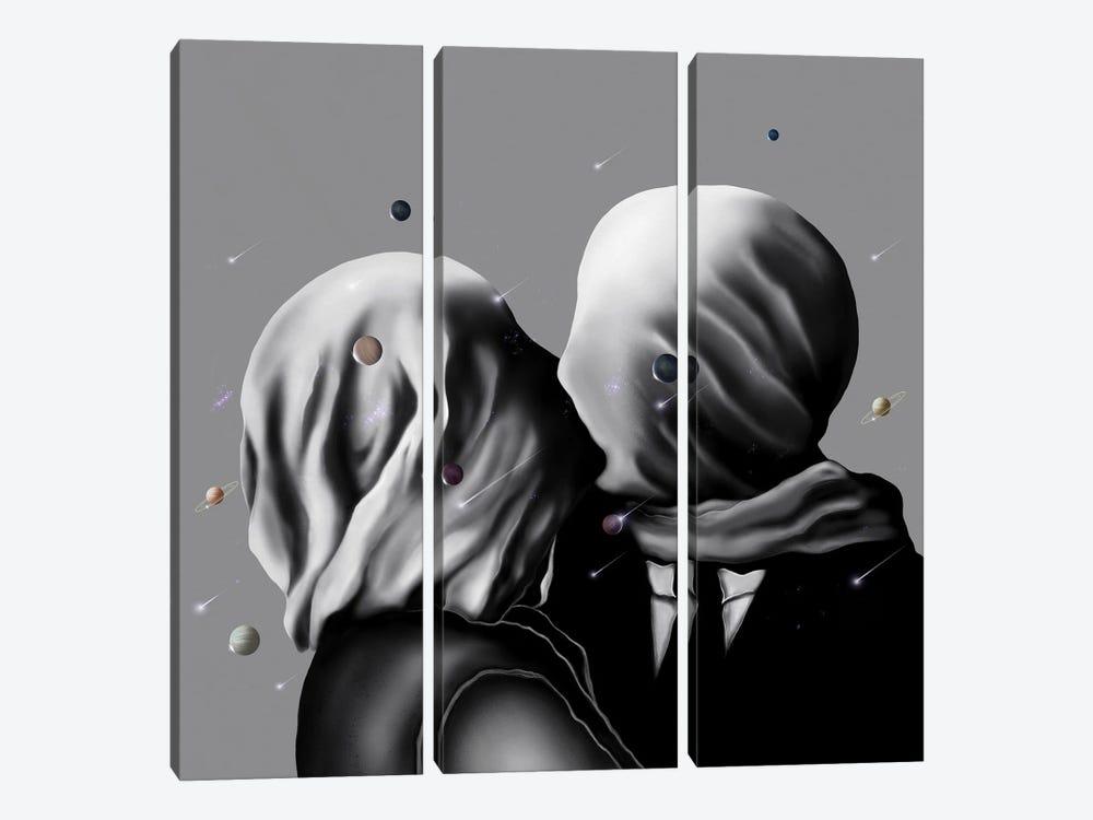 Two Saturn's One Space by Henrique Nobrega 3-piece Canvas Art Print