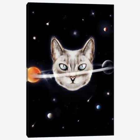 Cat Planet I Canvas Print #HNO56} by Henrique Nobrega Canvas Wall Art