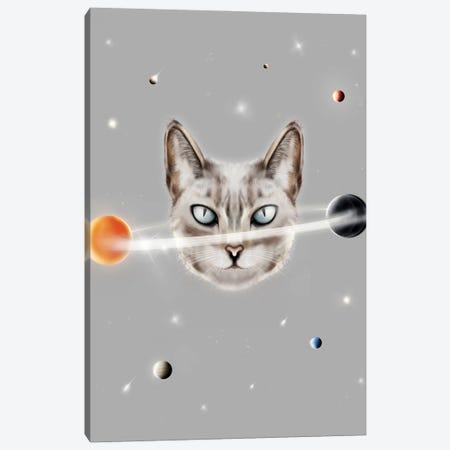 Cat Planet Canvas Print #HNO57} by Henrique Nobrega Canvas Wall Art