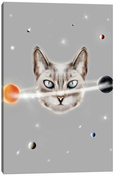 Cat Planet Canvas Art Print
