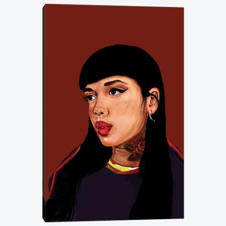 Rebel Girl I Canvas Print #HNO7} by Henrique Nobrega Canvas Artwork