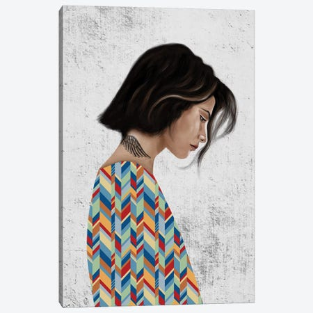 Rebel Girl III Canvas Print #HNO9} by Henrique Nobrega Canvas Print