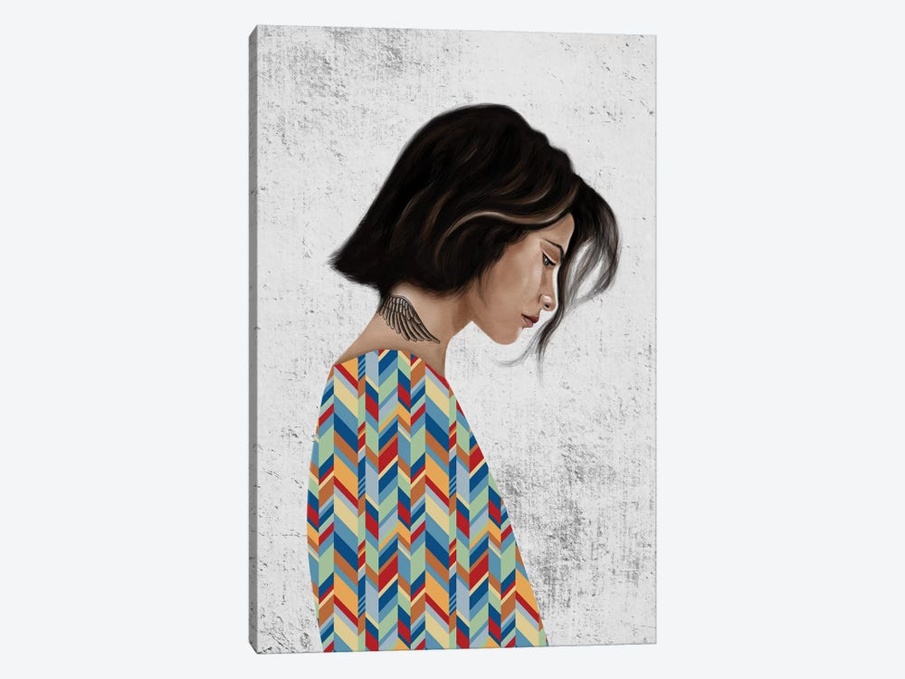 Rebel Girl III by Henrique Nobrega 1-piece Canvas Art Print