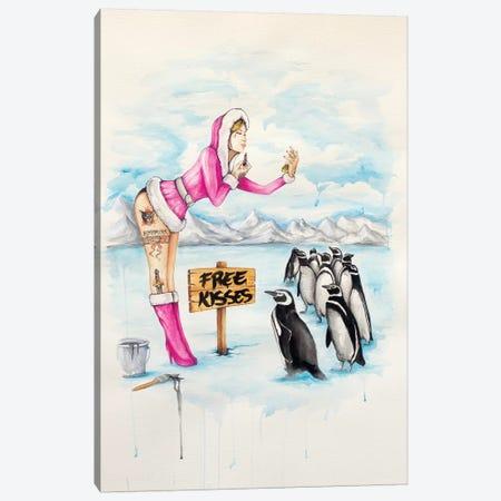 Free Kisses Canvas Print #HNQ5} by Henrique Montanari Art Print