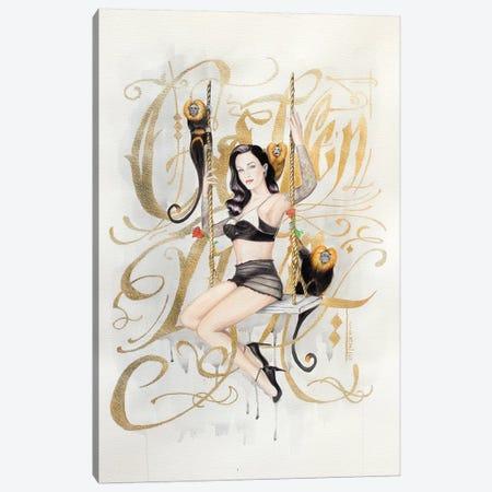 Golden Lion Canvas Print #HNQ6} by Henrique Montanari Canvas Art Print