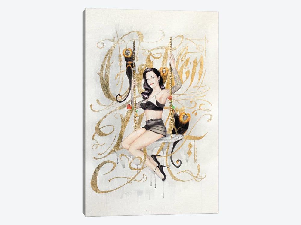 Golden Lion by Henrique Montanari 1-piece Canvas Wall Art
