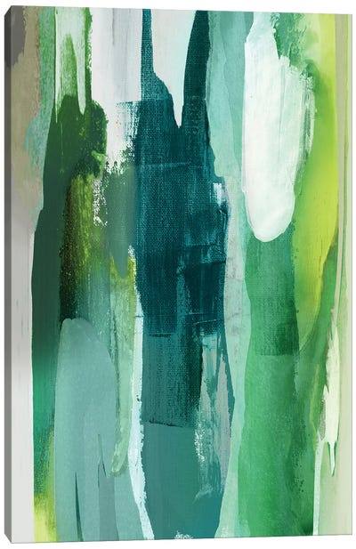 Converge Green I Canvas Art Print