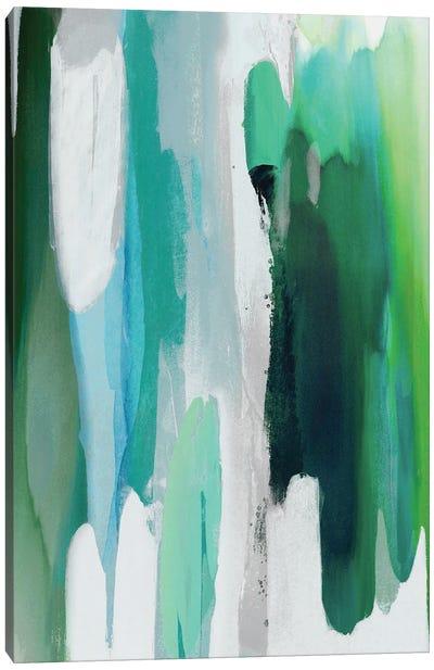 Converge Green II Canvas Art Print