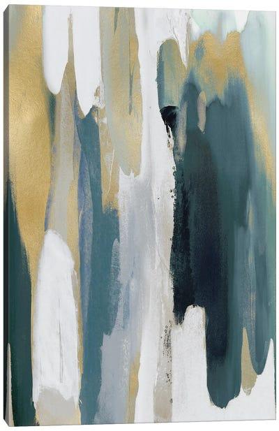 Converge Teal II Canvas Art Print