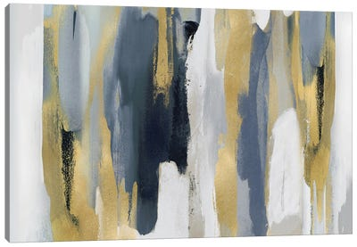 Echoes In Blue And Gold I Canvas Art Print