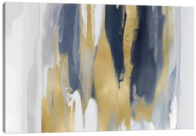 Echoes In Blue And Gold II Canvas Art Print