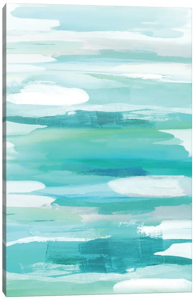 Glide Aqua Canvas Art Print