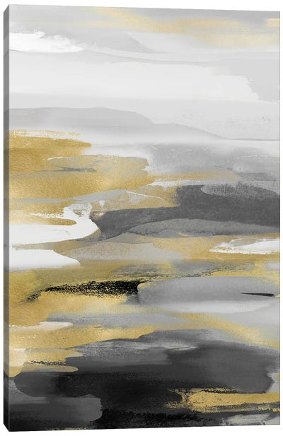 Intuition Black And Gold Canvas Art Print