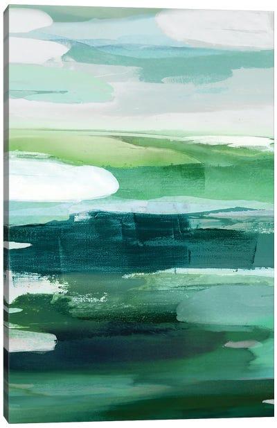 Intuition Green Canvas Art Print