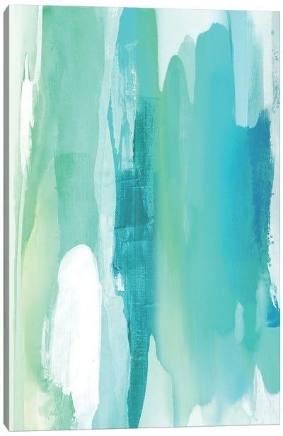 Converge Aqua I Canvas Art Print