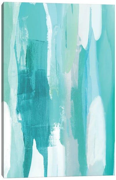 Converge Aqua II Canvas Art Print