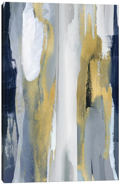 Converge Blue And Gold I Canvas Art Print