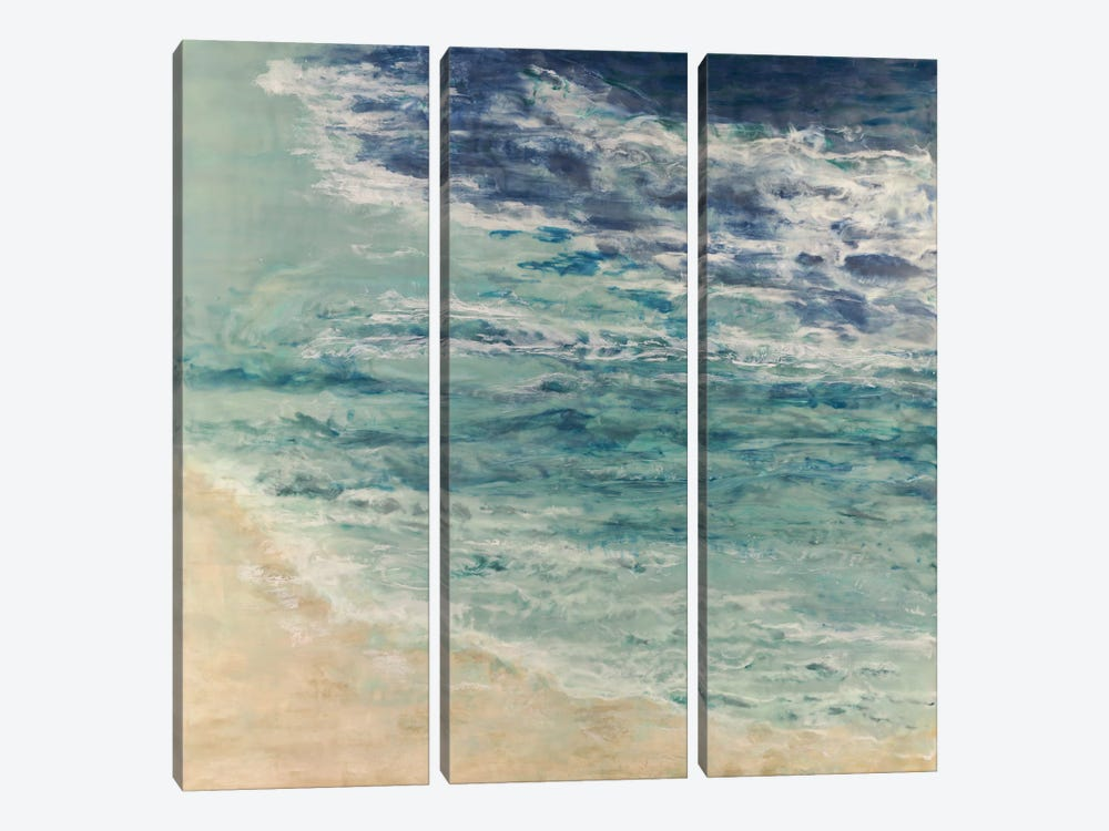 Lapping at the Edge by Shima Shanti 3-piece Canvas Wall Art