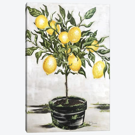 Lemon Tree Canvas Print #HOA11} by Hollihocks Art Canvas Wall Art