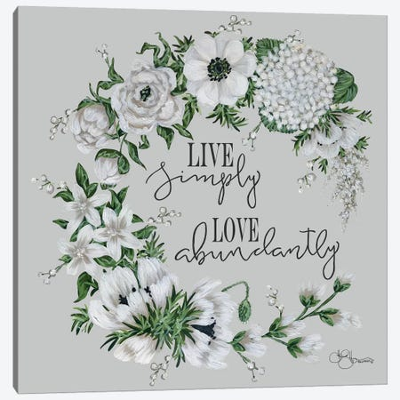 Live Simply Canvas Print #HOA12} by Hollihocks Art Canvas Art