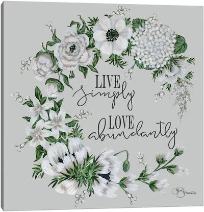 Live Simply Canvas Art Print