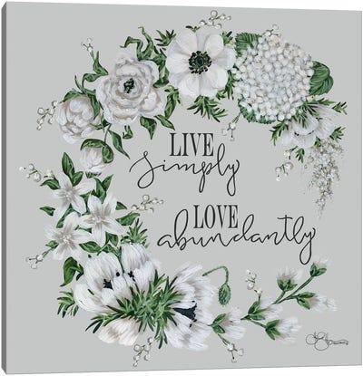 Live Simply Canvas Art Print