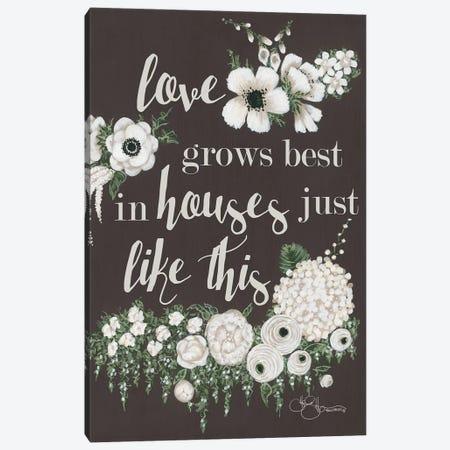 Love Grows Canvas Print #HOA16} by Hollihocks Art Canvas Art Print