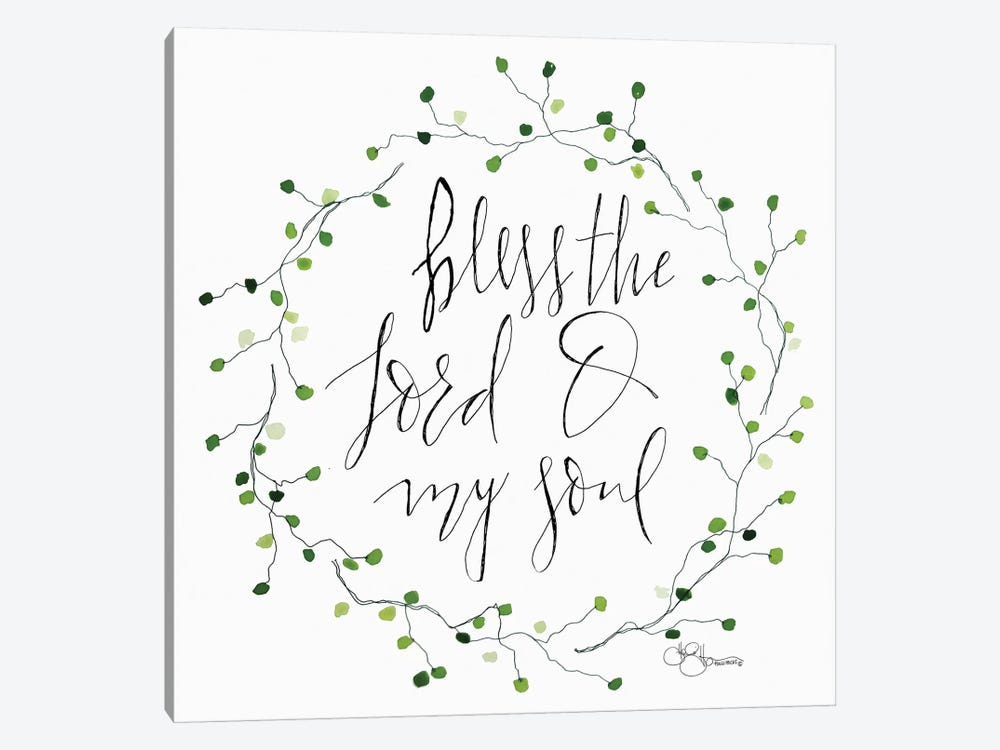 Bless the Lord by Hollihocks Art 1-piece Canvas Wall Art