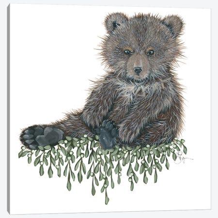 Baby Bear Canvas Print #HOA21} by Hollihocks Art Art Print