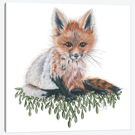 Baby Fox Canvas Print #HOA22} by Hollihocks Art Art Print