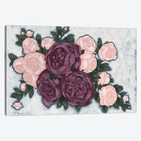 English Roses Canvas Print #HOA30} by Hollihocks Art Canvas Artwork