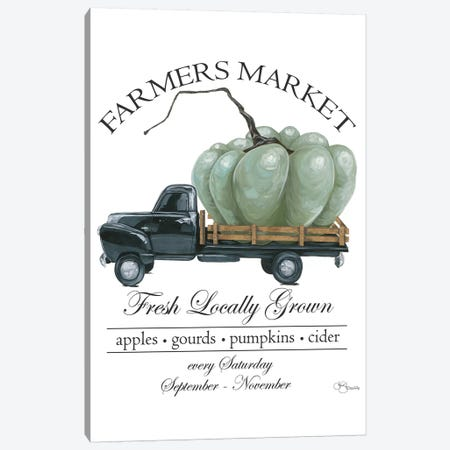 Farmers Market Truck 3-Piece Canvas #HOA31} by Hollihocks Art Canvas Art