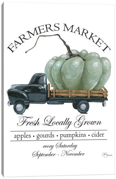 Farmers Market Truck Canvas Art Print